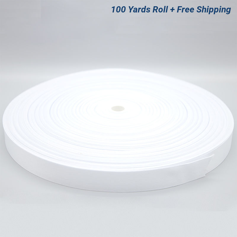 1 Inch White Sublimation Lanyard Rolls - 100 Yards/Roll