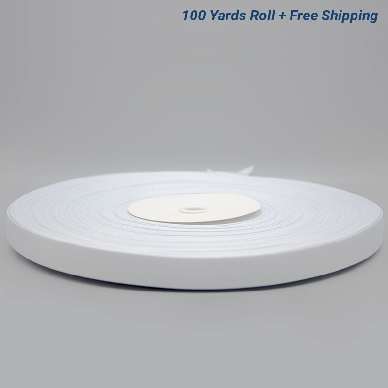 3/4 Inch White Sublimation Lanyard Rolls - 100 Yards/Roll