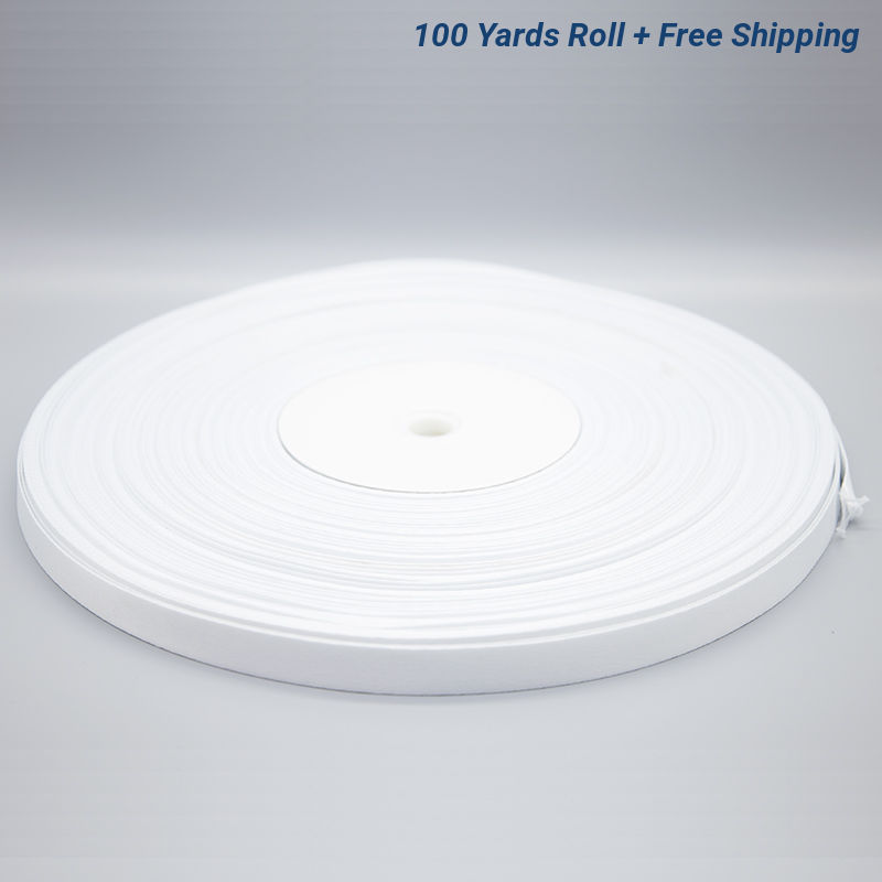 5/8 Inch White Sublimation Lanyard Rolls - 100 Yards/Roll