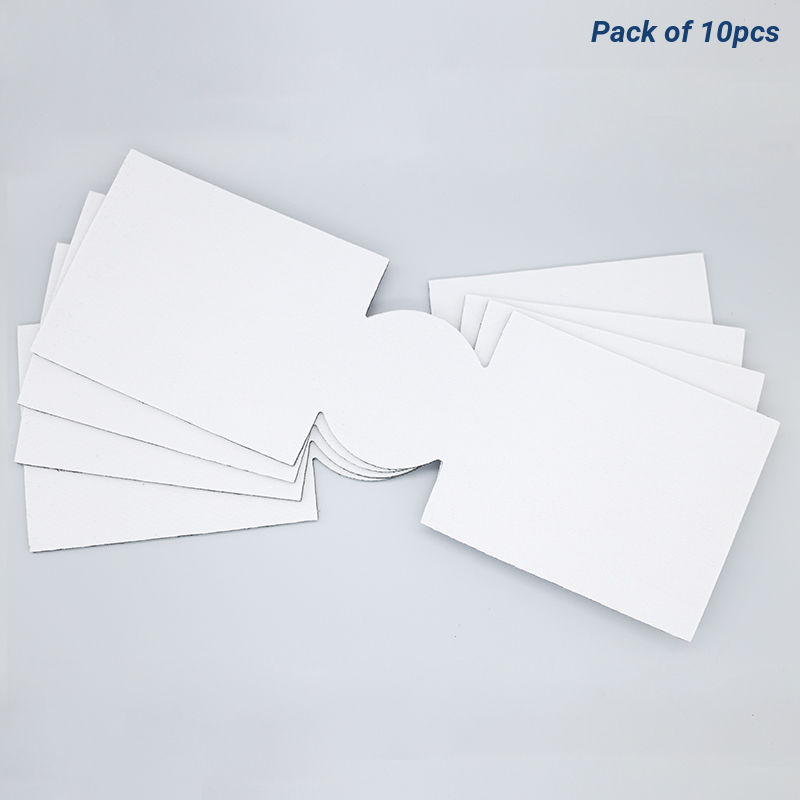 Unsewn White Slim Coolies For Sublimation Printing - Pack Of 10pcs