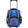 Blue - Cooler, Coolers, Lunch, Lunch Bag, Insulated, Bag, Roller, Wheels, Cans