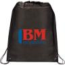 Black - Backpacks; Bags; Drawstring;