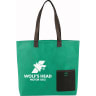 Kelly Green - Tote, Tote Bag, Bag, Bags, Business, Zipper, Handles, Convention, Pocket