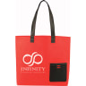 Red - Tote, Tote Bag, Bag, Bags, Business, Zipper, Handles, Convention, Pocket