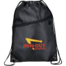Sports Pack With Front Zipper - Backpacks; Bags; Drawstring; Zipper; Earbuds;