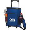 Royal Blue - Cooler, Coolers, Lunch, Lunch Bag, Insulated, Bag, Roller, Wheels, Cans