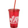 Red Tumbler - 16 oz. - Tumbler, Tumblers, Coffee, Flask, Coffee Bottle, Coffee Bottles, Drink, Drinks, Mug, Thermos, Thermoses, Coffee Heater, Coffee Warmer, Coffee Cooler, Iced Coffee, Ice Coffee, Ice Tea, Iced Tea