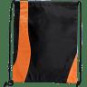 Black - Orange - Drawstring, Draw, String, Back, Backpack, Backpacks, Tote, Bags, Tote, Bag, Shopper, Shopping, Budget, Totebag, Totebags;