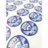 9 Full Color 2 Inch Circle Sticker Sheets -