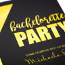 Custom Invitation Card with Metallic Gold Imprint -