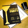 1_Custom Full Color 5 x 7 Inch Invitation Cards (Metallic Gold Imprint) -