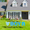 It's A Boy Yard Letters -