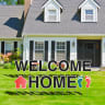 Welcome Home Yard Letters -