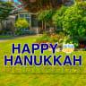 Happy Hanukkah Yard Letters - Hanukkah