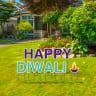 Pre-Packaged Happy Diwali Yard Letters - Diwali
