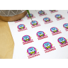 3 Full Color 2 Inch Circle Sticker Sheets -