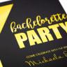 Custom Invitation Card with Metallic Gold Imprint -
