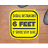 6ft Space Square Social Distancing Stickers - Social Distancing, Floor Stickers, Wall Stickers, Social Distancing Stickers, Stay Apart, 6ft Apart, 6 Feet Apart, 6 Ft Social Distance, 6 Feet Social Distance, 6ft Social Distancing, 6 Ft Social Distancing, Social Distancing