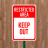 Restricted Area - Custom Parking Signs
