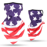 American Flag - Face Masks,neck Gaiters, Face Covering, Ice Silk, Ear Hearing Ice Silk, Fae Covering Neck Gaiters,