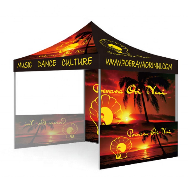 10ft X 10ft Full Color Pop Up Canopy Tents