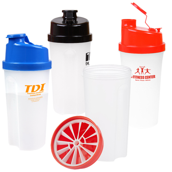 Plastic Fitness Shaker With Measurements - 20 Oz