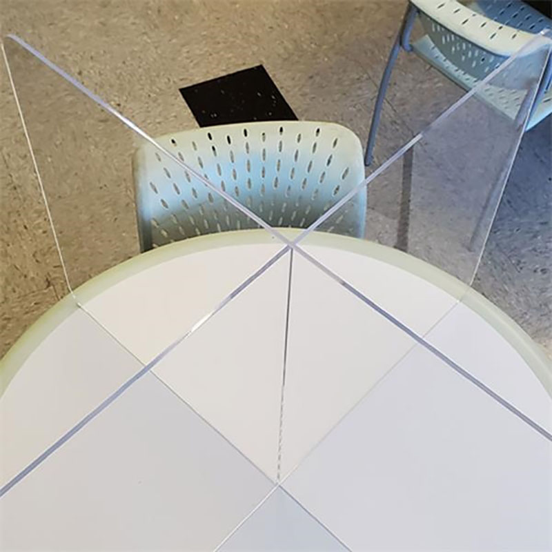 24 X 40 X 40 Inch Sneeze Guard Table Top Divider