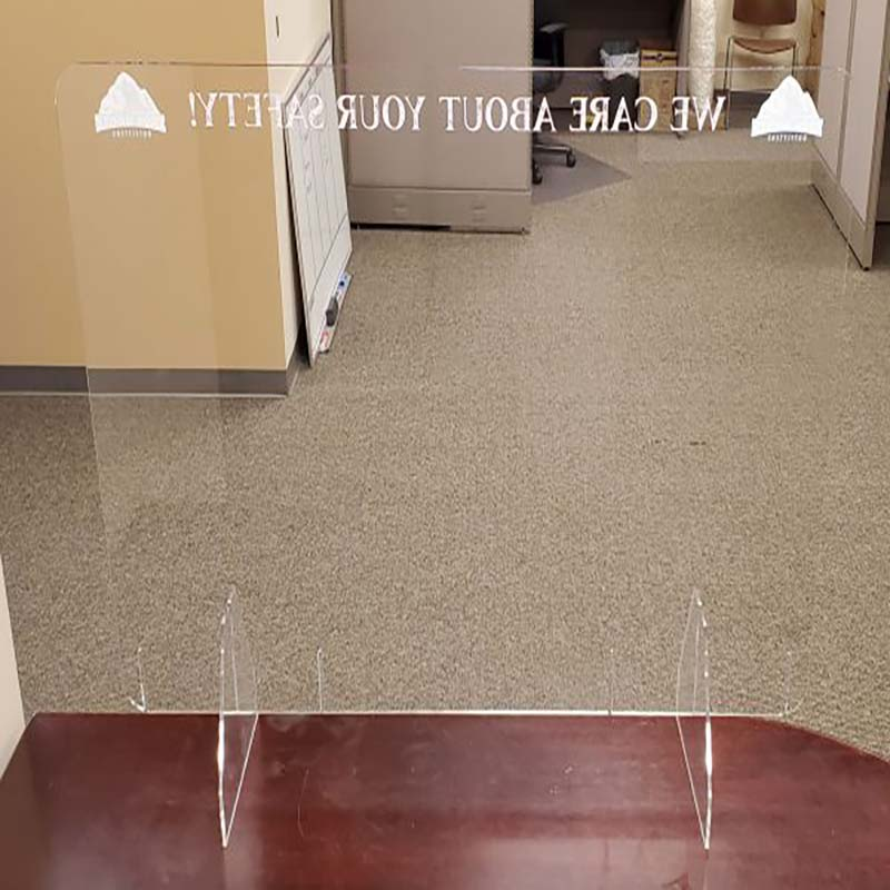 32 X 47 Inch Sneeze Guard Table Top Raised From Surface