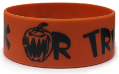 1 Inch Trick Or Treat Wristbands
