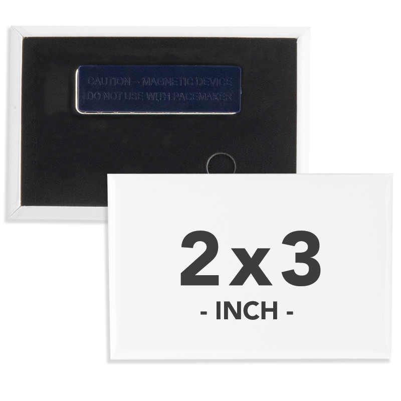 2 X 3 Inch Rectangle Wearable Clothing Magnet Buttons