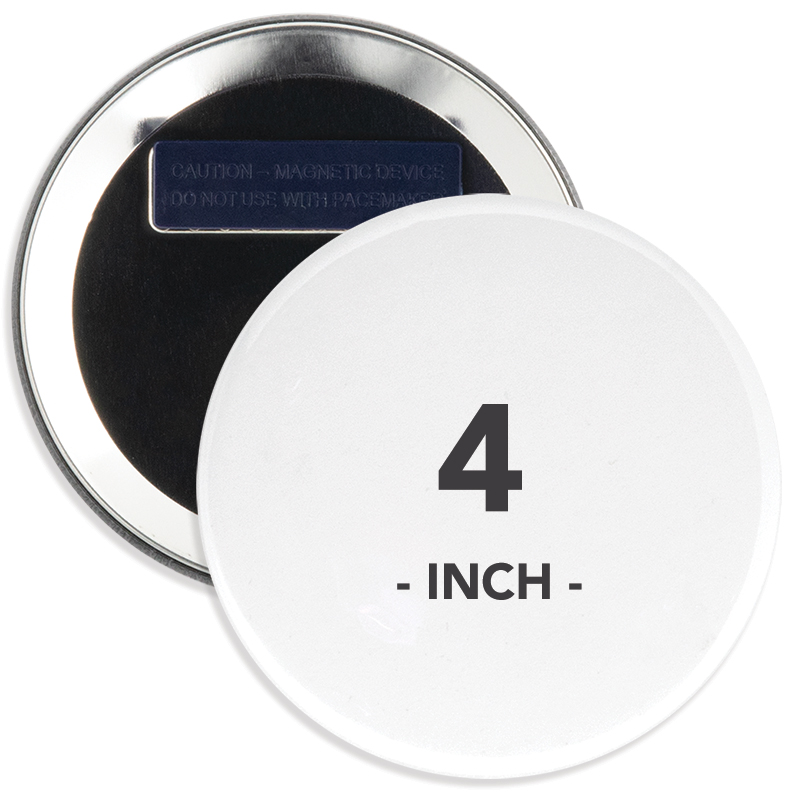 4 Inch Round Wearable Clothing Magnet Buttons