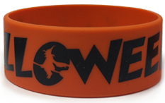 1 Inch Halloween Wristbands (Flying Witch)
