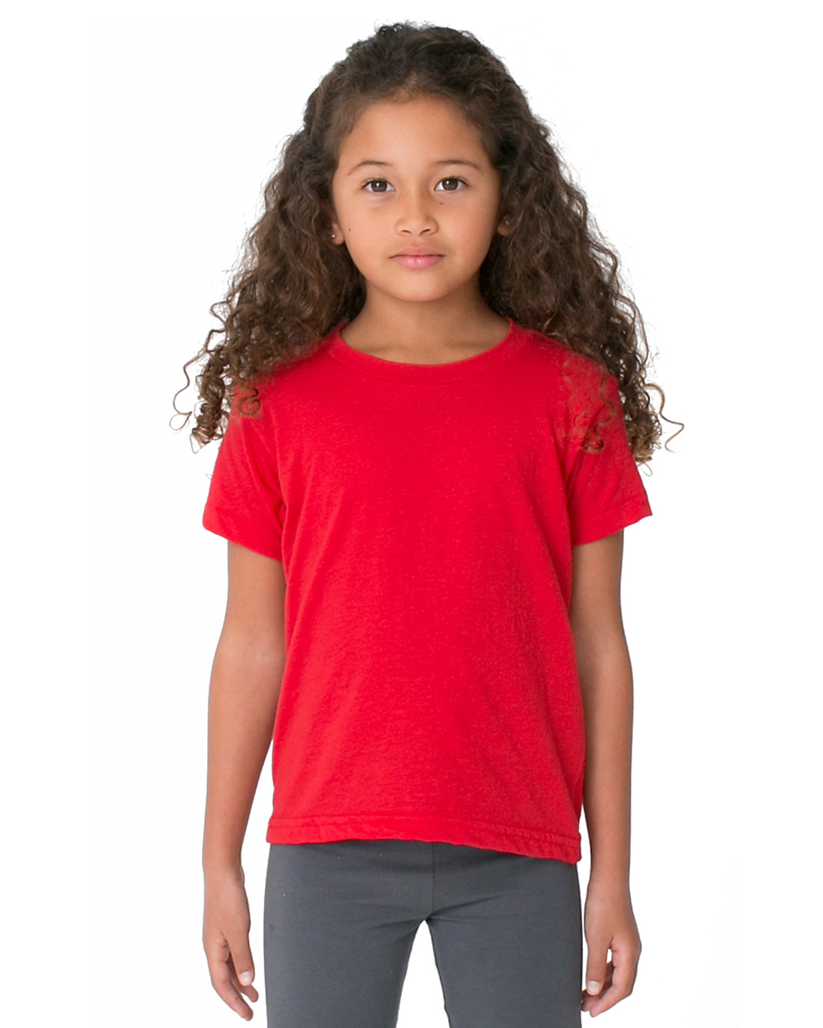 American Apparel Toddlers Poly-Cotton Short-Sleeve Crewneck