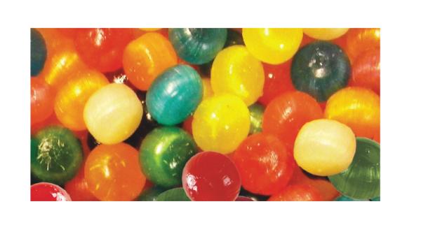Assorted Fruit Balls In Stock Packaging