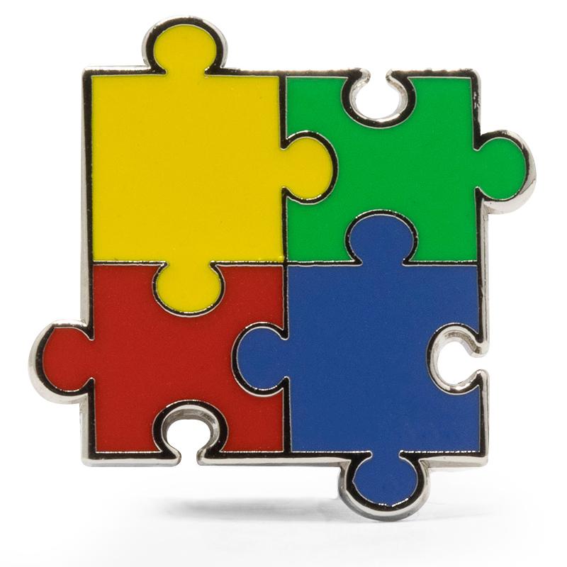 Autism Awareness Stock Lapel Pins