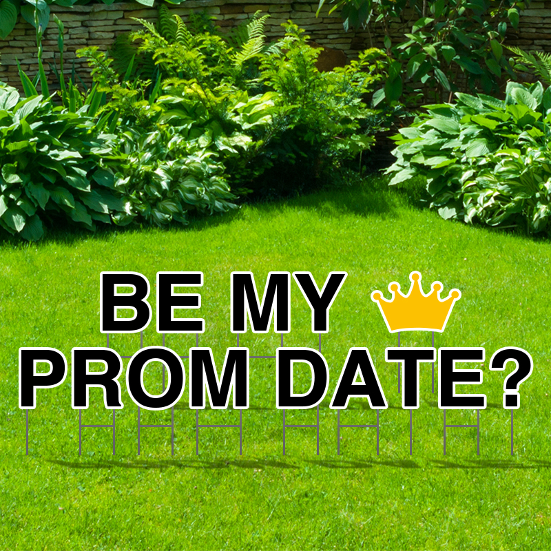 Pre-Packaged Be My Prom Date Yard Letters