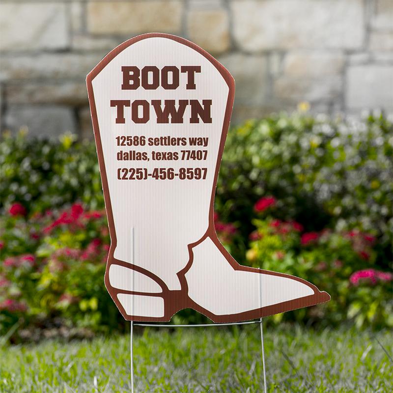 Boot Yard Signs