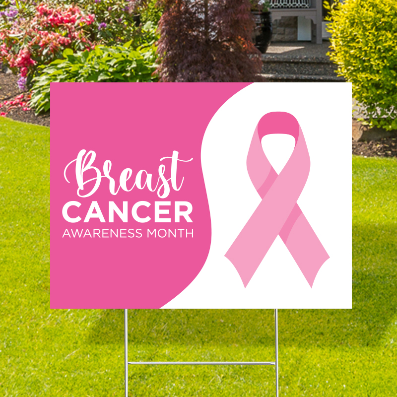 Breast Cancer Awareness Month Yard Signs