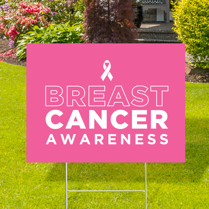 Breast Cancer Awareness Stock Yard Signs