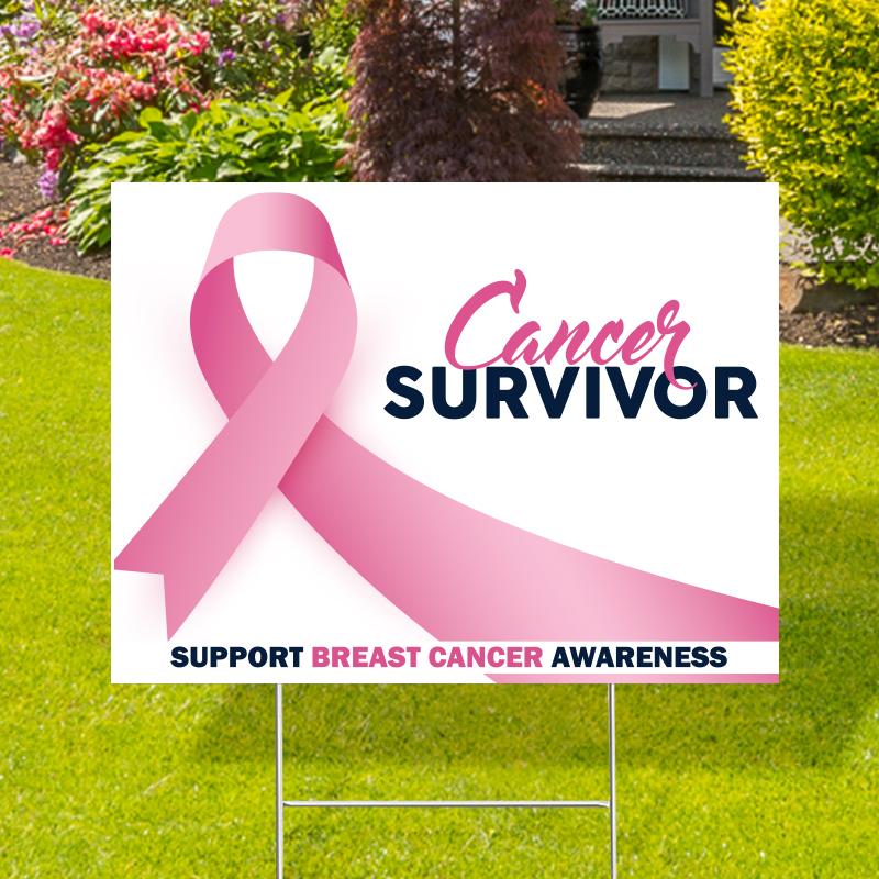 Breast Cancer Survivor Yard Signs