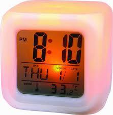 Color Change Alarm Clock