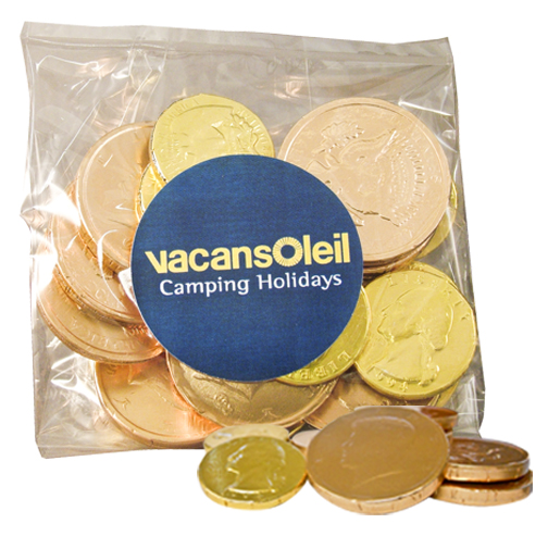 Chocolate Coins Candy Bag
