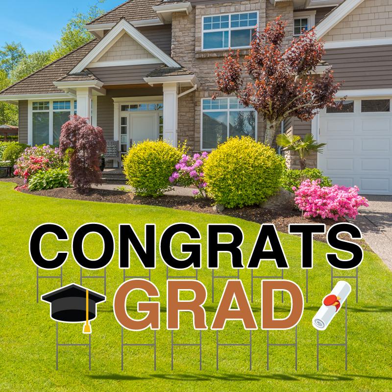 Congrats Grad Yard Letters