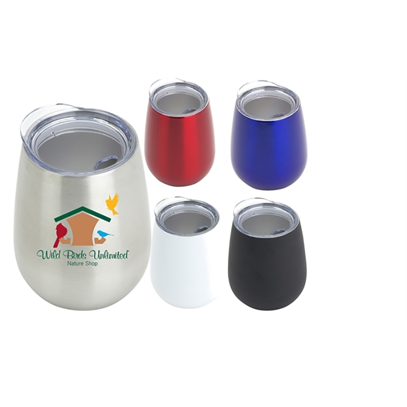 Custom 12 Oz Double Wall Stainless Wine Tumblers