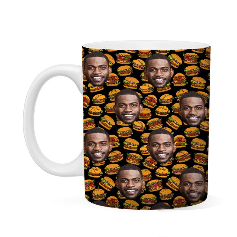 Custom Burger Mug