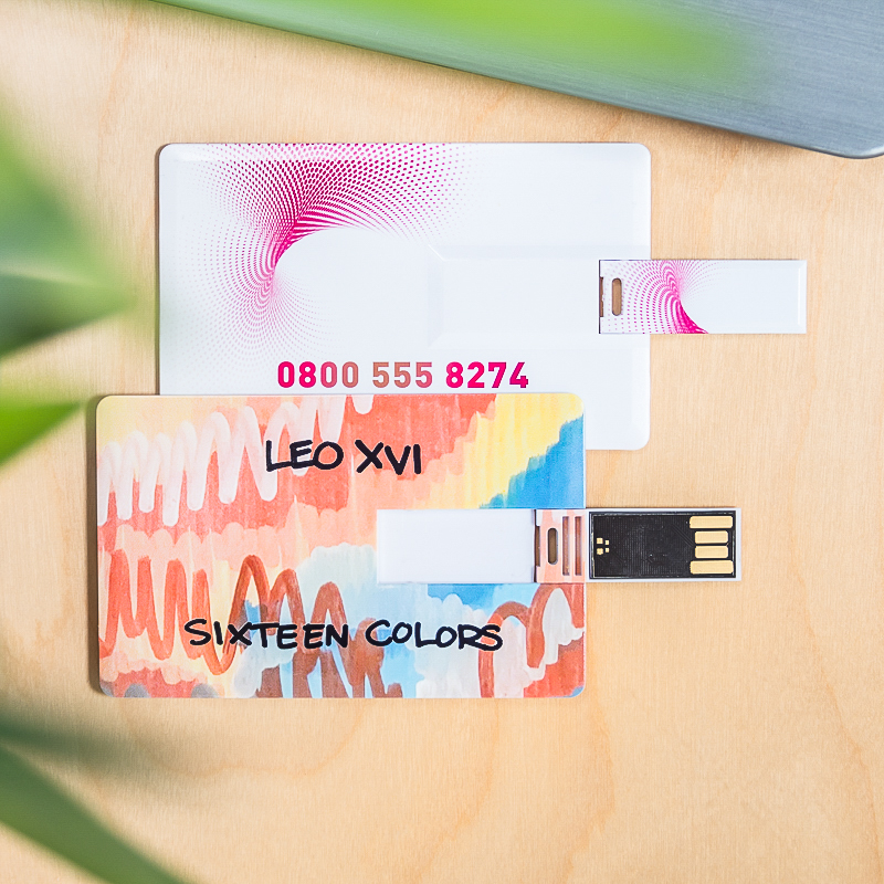 Custom Business Card Flip USB Flash Drives