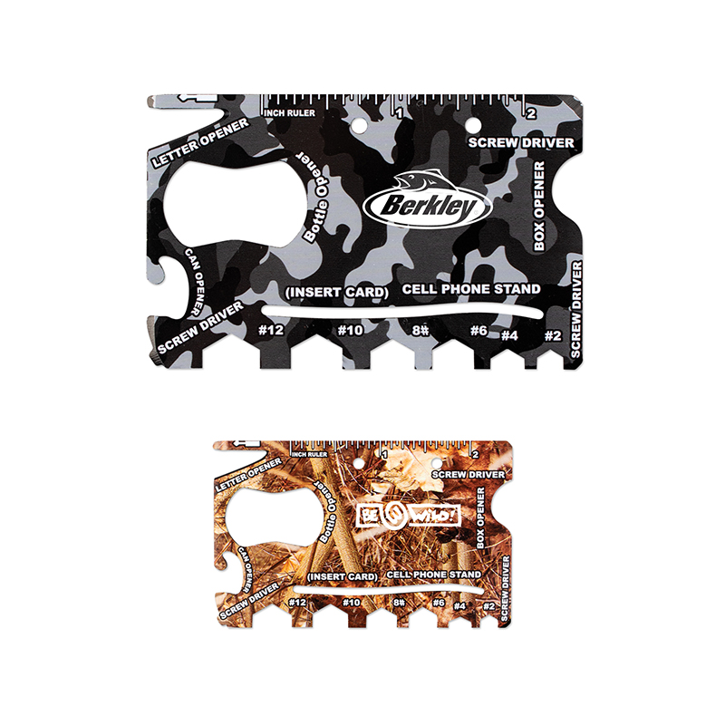 Custom Camo 18-in-1 Credit Card Sized Survival Tools
