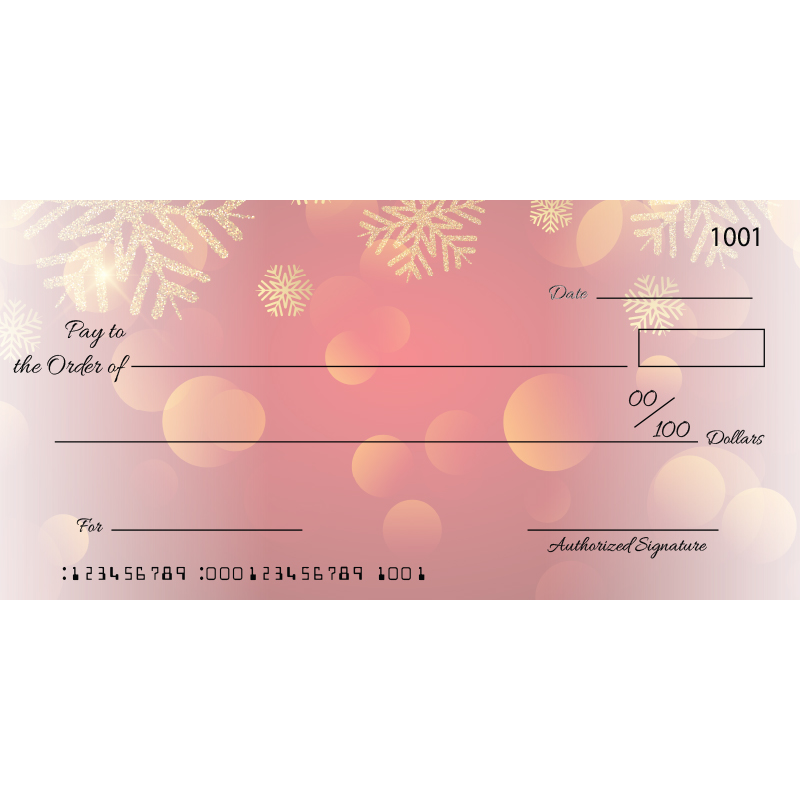 Custom Christmas Big Checks