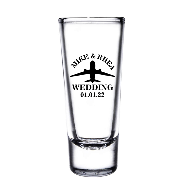 Custom Clear Tall Shooter Glasses- 2 Oz.