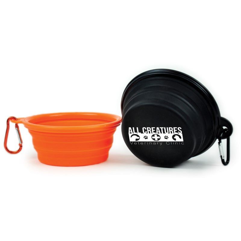 Custom Collapsible Silicone Pet Bowls